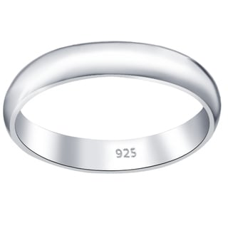 Essence Jewelry Polished Wedding Band In Sterling Silver