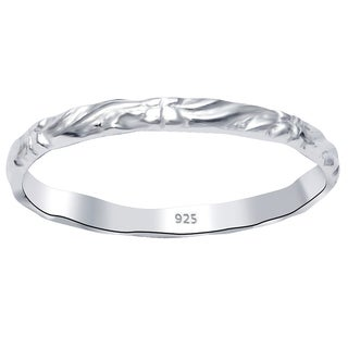Essence Jewelry 925 Sterling Silver Swirl And Floral Wedding Band Ring