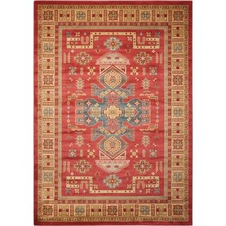 Rug Squared Ramsey Red Area Rug (9'3x12'9)