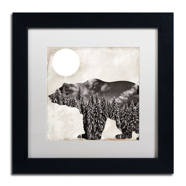 Color Bakery 'Going Wild VI' Matted Framed Art - Black