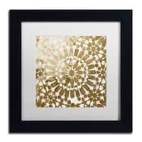 Color Bakery 'Moroccan Gold I' Matted Framed Art