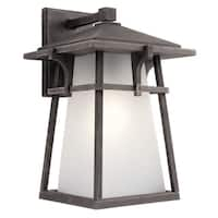 Kichler Lighting Beckett Collection 1-light Weathered Zinc Outdoor LED Wall Lantern
