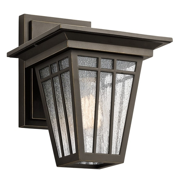 Kichler Lighting Woodhollow Lane Collection 1-light Olde Bronze Outdoor Wall Lantern