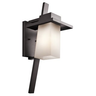 Kichler Lighting Stonebrook Collection 1-light Architectural Bronze Outdoor Fluorescent Wall Sconce