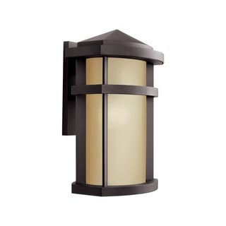 Kichler Lighting Lantana Collection 1-light Architectural Bronze Outdoor Fluorescent Wall Lantern