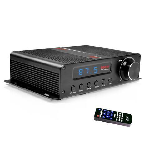 Pyle PFA540BT Compact 5-Channel Bluetooth Amplifier, Hi-Fi Amp Receiver with HDMI, LCD Display, FM Radio