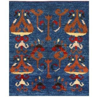 Herat Oriental Afghan Hand-knotted Vegetable Dye Gabbeh Wool Rug (5'3 x 6'1)