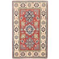 Handmade Herat Oriental Afghan Vegetable Dye Kazak Wool Rug (Afghanistan) - 3'8 x 5'10