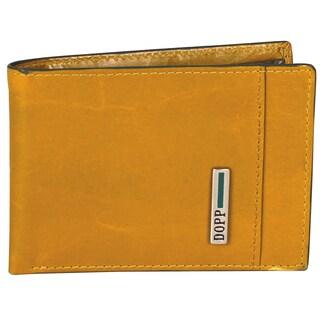 Dopp Beta Leather Front Pocket Slim-fold Wallet (Option: Gold)