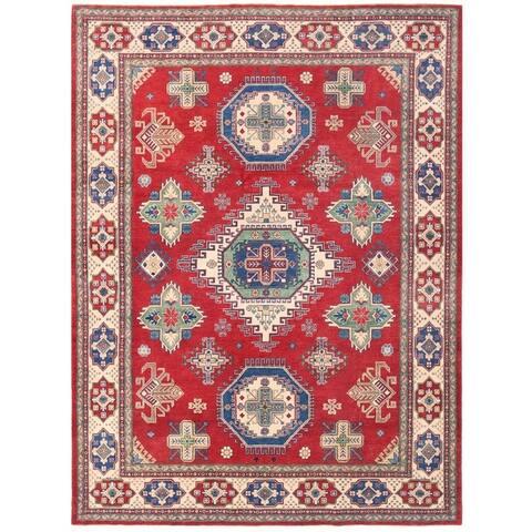 Handmade Vegetable Dye Kazak Wool Rug (Afghanistan) - 8'10 x 11'9