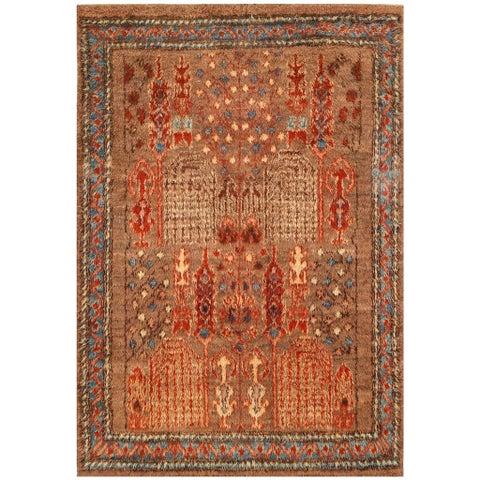 Handmade Herat Oriental Afghan Vegetable Dye Shag Gabbeh Wool Rug - 7' x 10'4 (Afghanistan)