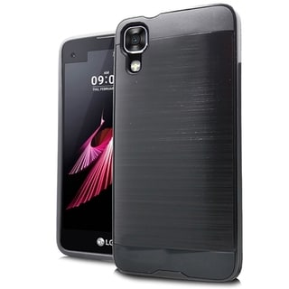 LG K10 Silver Brushed Case