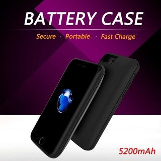 Apple Iphone 6 Black/ Clear Easy Slide-out 5200mAh Battery Case with Stand