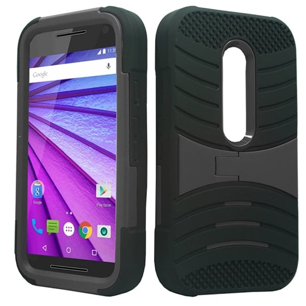 Motorola Moto X (2014) Grey XL Armor Case with Stand