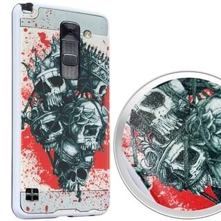 (XL) LG Stylo 2 Plus Plastic/PU Leather 'Bag of King' Brushed 3D Image Case