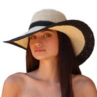 Palms and Sand Andros Women's Navy Floppy Wide Brim Sun Hat