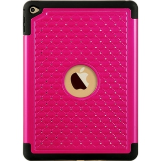 Apple Ipad Air 2 Hybrid Studded Diamond Black Skin Case