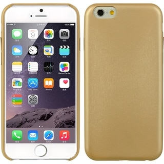 Iphone 6 Elite Series Minimalism Gold Leather Phone Cover