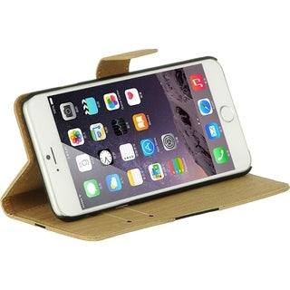 Apple Iphone 6 Plus Wood Natural Pouch with Card Slots
