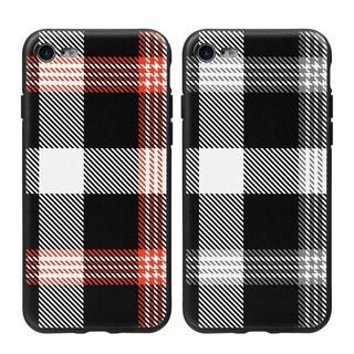 Applie iPhone 7 Plaid TPU Soft Cover Case