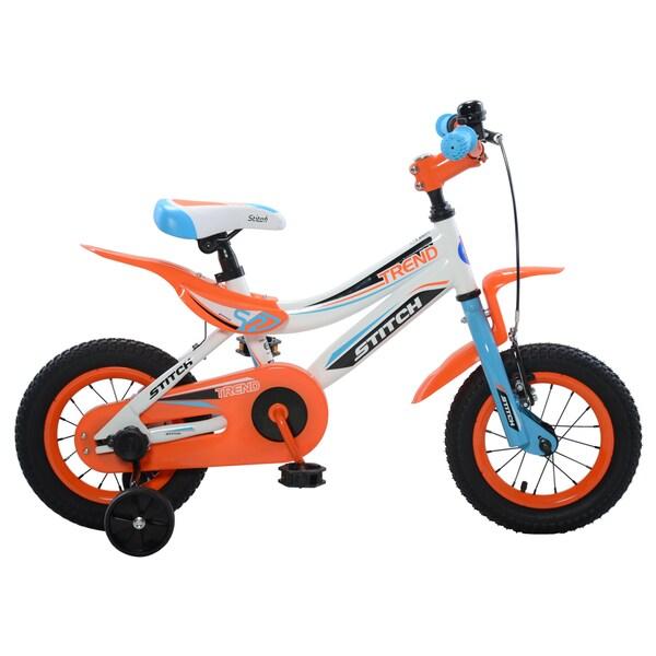 Stitch Trend Boy's Bike, Blue/Orange