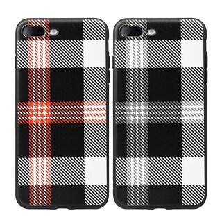 Apple iPhone 7 Plus Plaid TPU Soft-cover Case