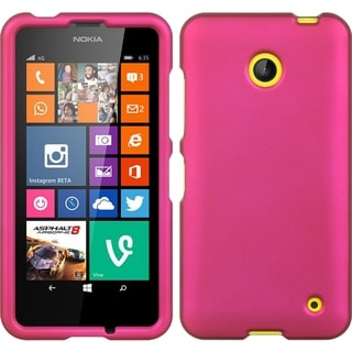 Hot Pink Crystal Rubber Case for Nokia Lumia 635