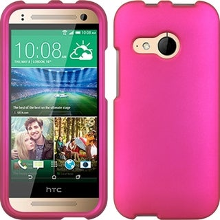 HTC One Mini 2 Crystal Hot Pink Rubber Case