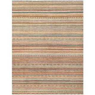 Handmade Herat Oriental Afghan Vegetable Dye Gabbeh Wool Rug (Afghanistan) - 8'11 x 11'10