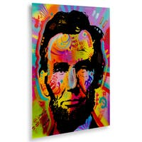 Dean Russo 'Abraham Lincoln IV' Floating Brushed Aluminum Art