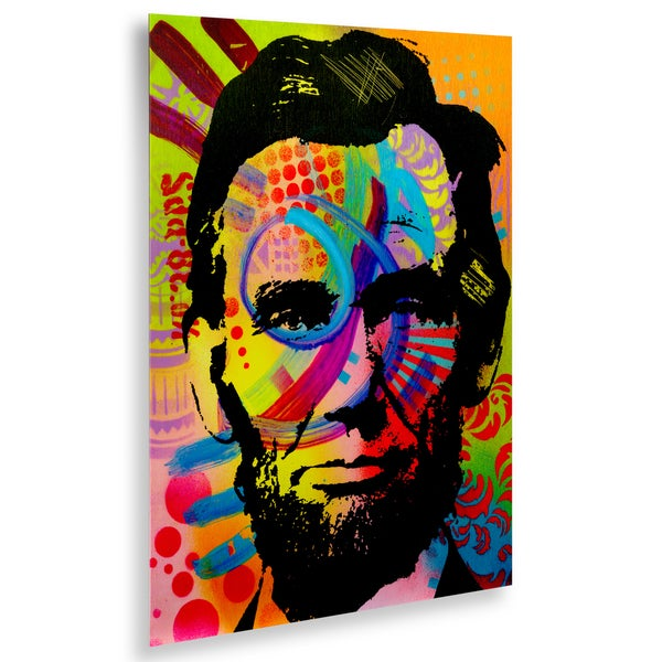 Dean Russo 'Abraham Lincoln II' Floating Brushed Aluminum Art
