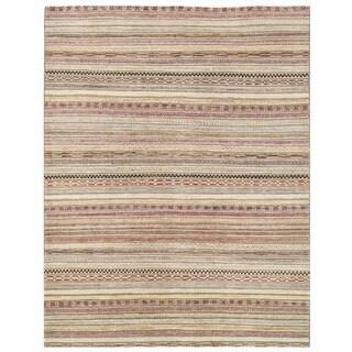 Herat Oriental Afghan Hand-knotted Vegetable Dye Gabbeh Wool Rug (6'5 x 8'4)