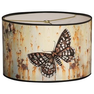 Royal Designs Butterfly Graphic Design10 x 10 x 8-inch Modern Trendy Decorative Handmade Lamp Shade