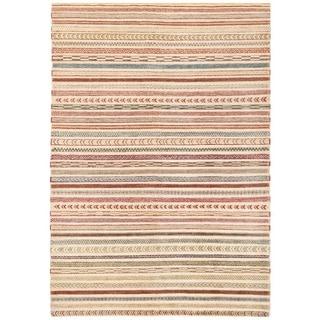 Herat Oriental Afghan Hand-knotted Vegetable Dye Gabbeh Wool Rug (5'11 x 8'7)
