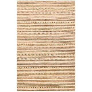 Herat Oriental Afghan Hand-knotted Vegetable Dye Gabbeh Wool Rug (5'10 x 9')