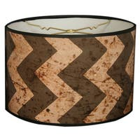 Royal Designs Two-tone Black and Beige Chevron Design -10 x 10 x 8-inch Modern Trendy Decorative Handmade Lamp Shade