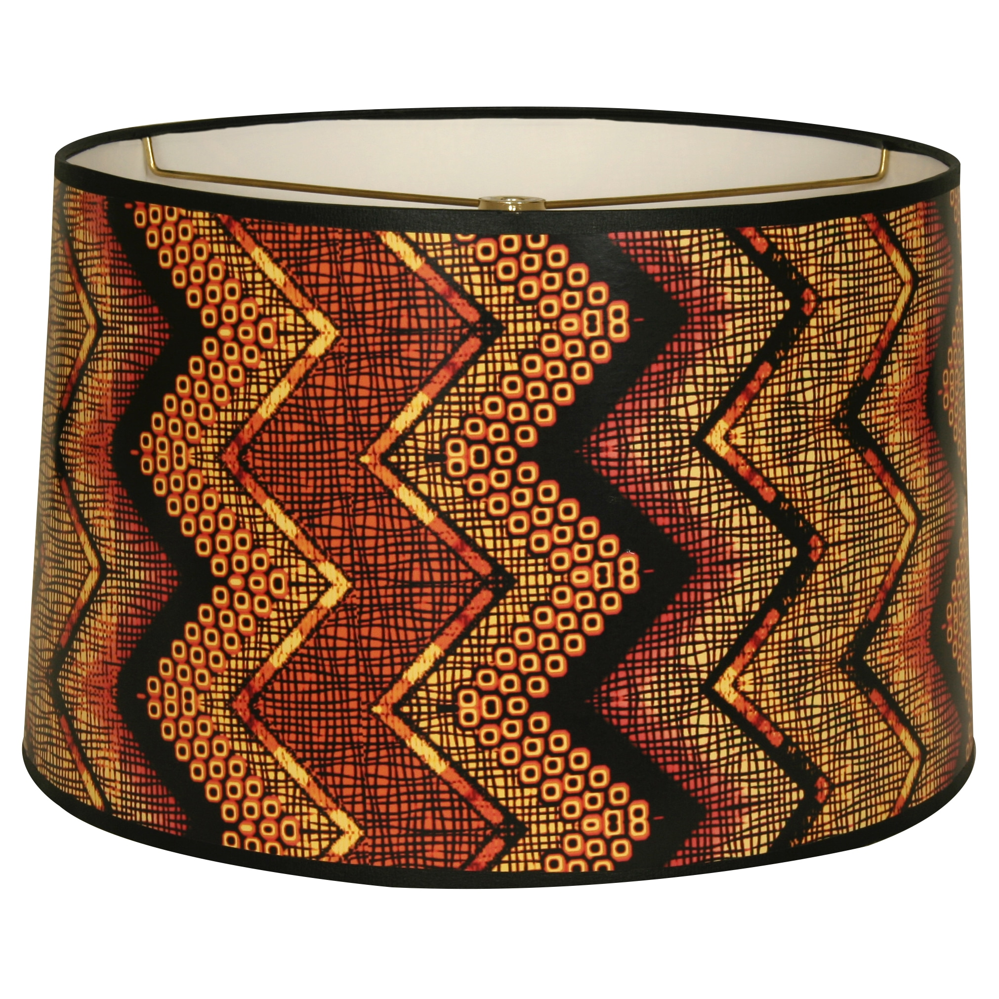 Royal Designs Multicolored African Style Chevron10 x 10 x...
