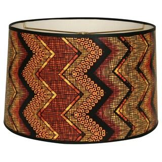 Royal Designs Multicolored African Style Chevron10 x 10 x 8-inch Modern Trendy Decorative Handmade Lamp Shade