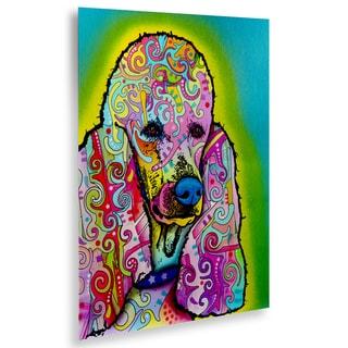 Dean Russo 'Poodle' Floating Brushed Aluminum Art