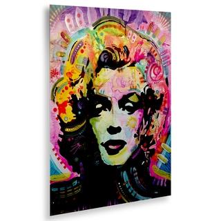 Dean Russo 'Marilyn 1' Floating Brushed Aluminum Art