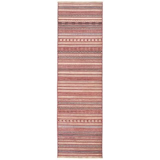 Herat Oriental Afghan Hand-knotted Vegetable Dye Gabbeh Wool Runner (2'7 x 9'5)