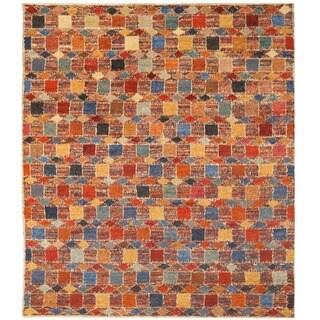 Herat Oriental Afghan Hand-knotted Vegetable Dye Shag Gabbeh Wool Rug (13'8 x 16')