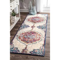nuLOOM Traditional Medallion Multi Runner Rug - 2'8 x 8'