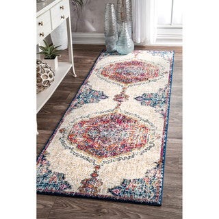 nuLOOM Traditional Medallion Multi Runner Rug (2'8 x 8')