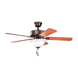 Kichler Lighting Renew Select Collection 50-inch Oil Brushed Bronze Ceiling Fan with Light - oil brushed bronze