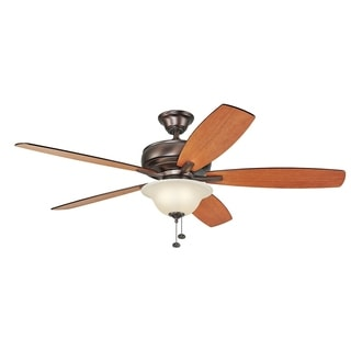 Kichler Lighting Terra Select Collection 60-inch Oil Brushed Bronze Ceiling Fan with Light - oil brushed bronze
