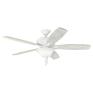 Kichler Lighting Terra Select Collection 60-inch Matte White Ceiling Fan with Light - matte white