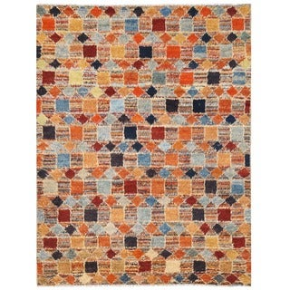 Herat Oriental Afghan Hand-knotted Vegetable Dye Shag Gabbeh Wool Rug (10' x 13')
