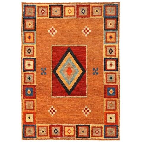 Handmade Vegetable Dye Shag Gabbeh Wool Rug (Afghanistan) - 10'2 x 13'2