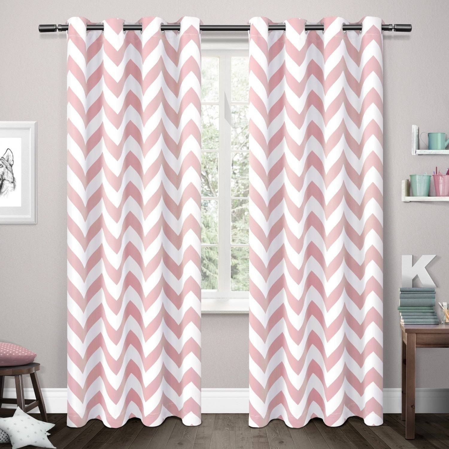 ATI Home Mars Woven Blackout Thermal Grommet Top Curtain ...